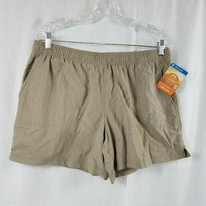 Colombia Women's Sandy River Tan Sz Large shorts